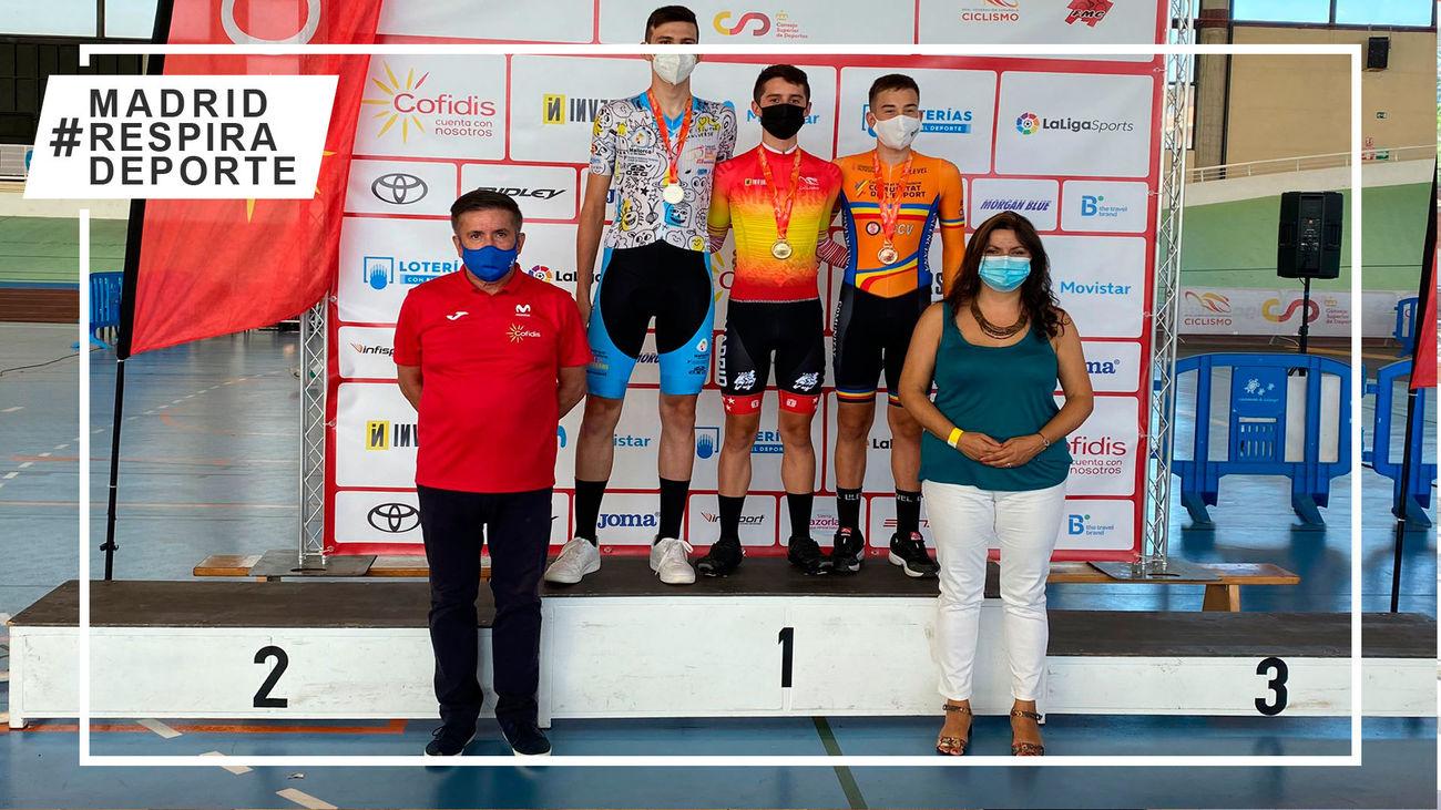 Cosecha de medallas de Madrid en los Nacionales de ciclismo de pista de Galapagar