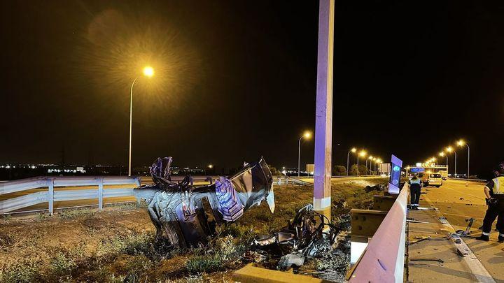 Muere un varón de 39 años en un accidente de tráfico en la M-50 a la altura de Leganés