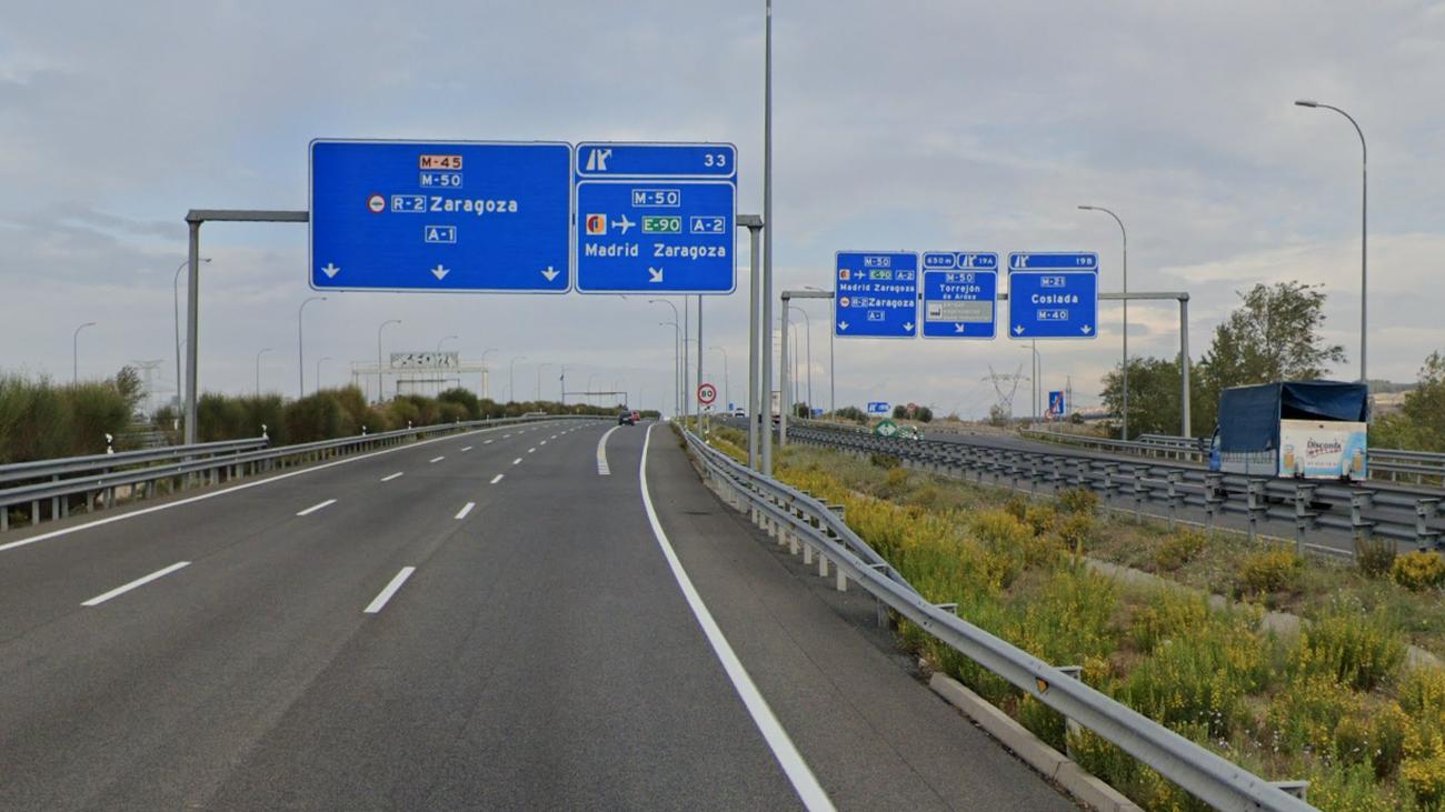 Desvíos de tráfico y cierres parciales por obras en la M-50 entre la A-1 y la A-2