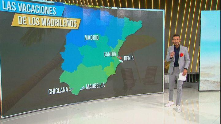 Los destinos preferidos por los madrileños para veranear