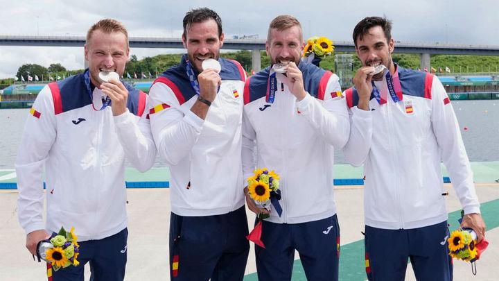 España se cuelga la plata olímpica en el K4 500