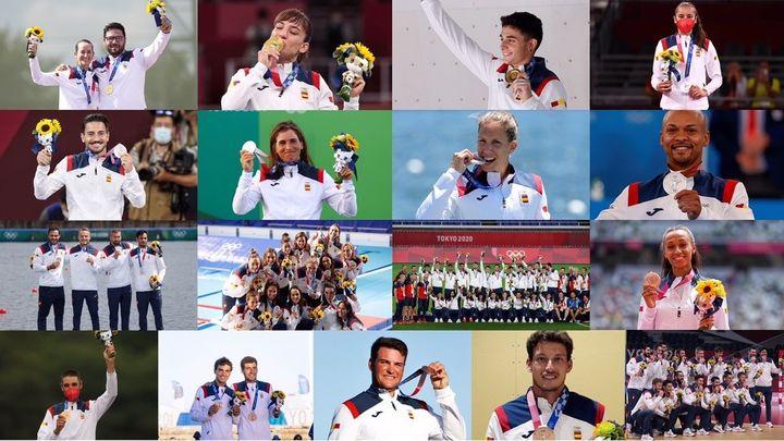 Estas son las 17 medallas ganadas por España en Tokio 2020
