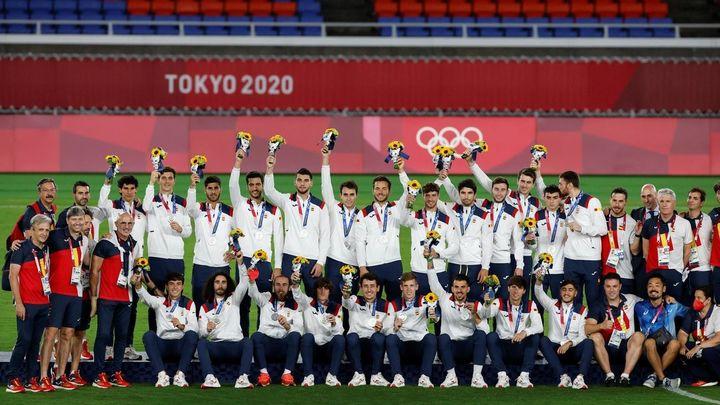 2-1. España, plata tras perder la final de fútbol ante Brasil
