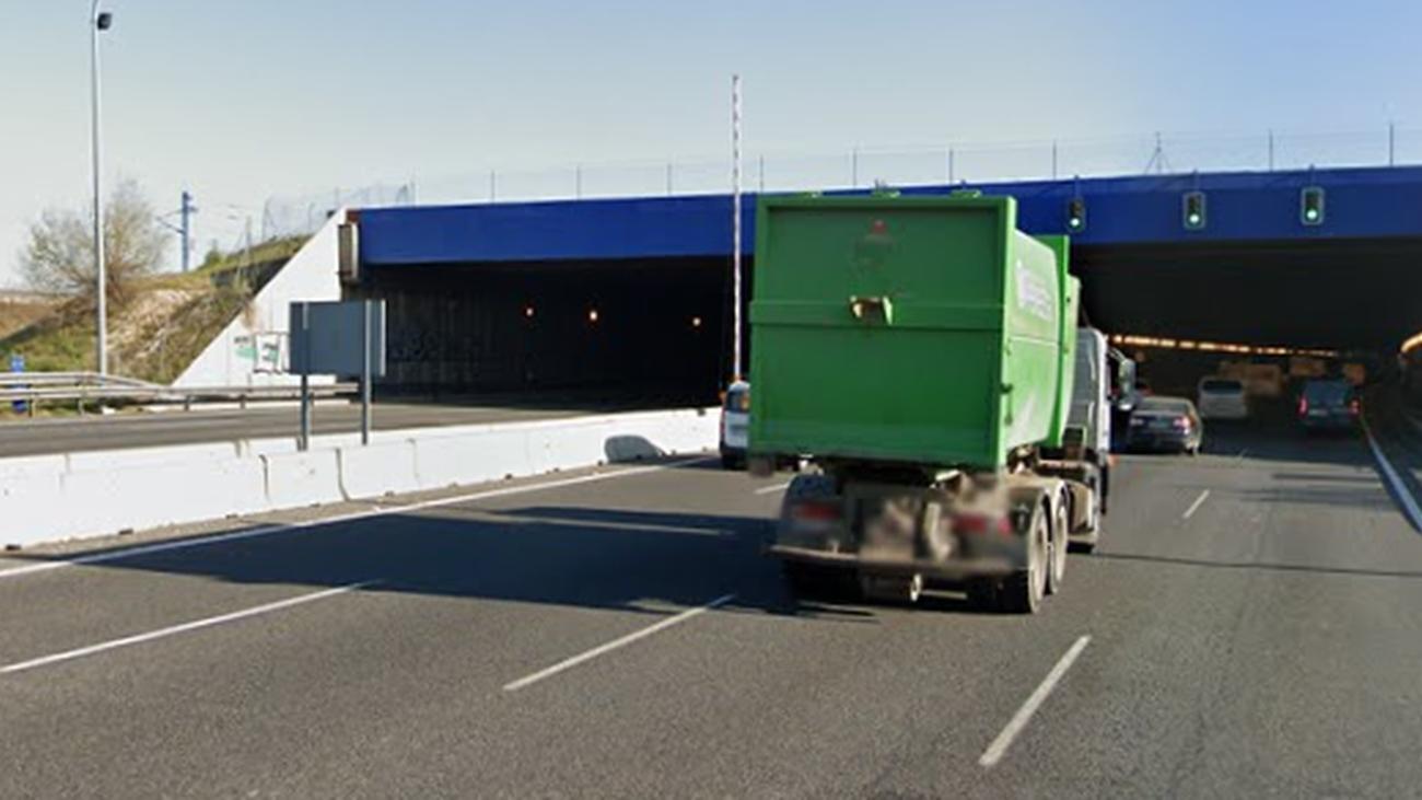 Cortados dos carriles de la M-50 en el túnel de Pelares del Río para mejorar la seguridad
