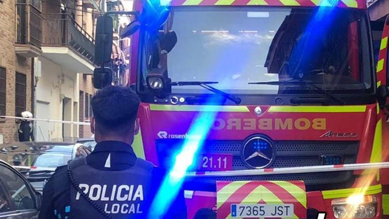 Intoxicado por humo un policía de San Fernando de Henares en el incendio de una vivienda
