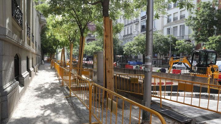 La calle Ortega y Gasset estará en obras hasta el próximo verano