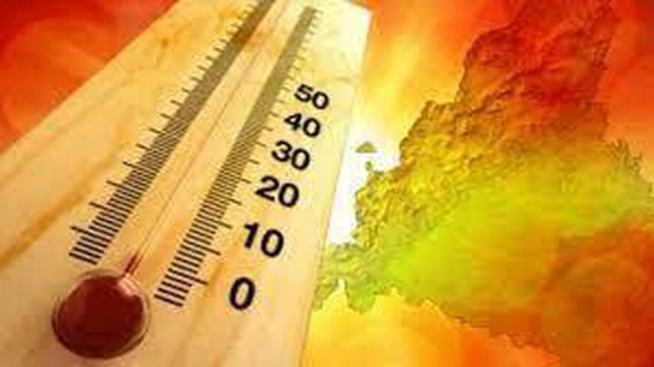Una ola de calor con valores entre 5 y 10 grados por encima de lo normal