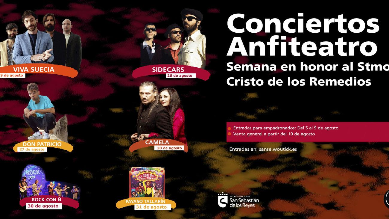 Sanse perfila un programa de festejos con conciertos de Sidecars, Don Patricio y Camela