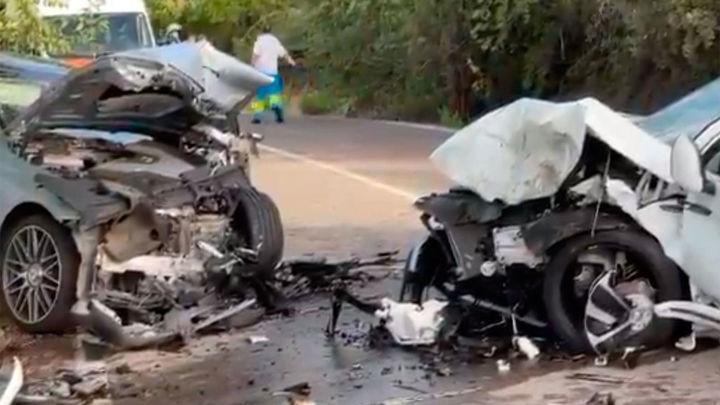 Cuatro heridos en una colisión frontal entre dos vehículos en Villalbilla