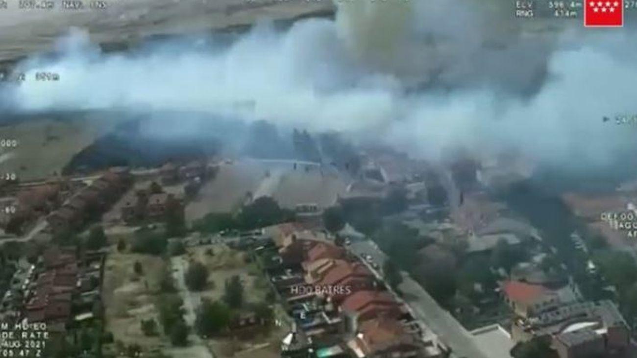 Los vecinos afectados por el incendio de Batres podrán presentar en un escrito los daños sufridos