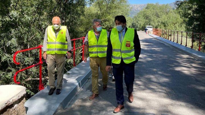 Rehabilitado el puente de hierro sobre el río Lozoya en Rascafría
