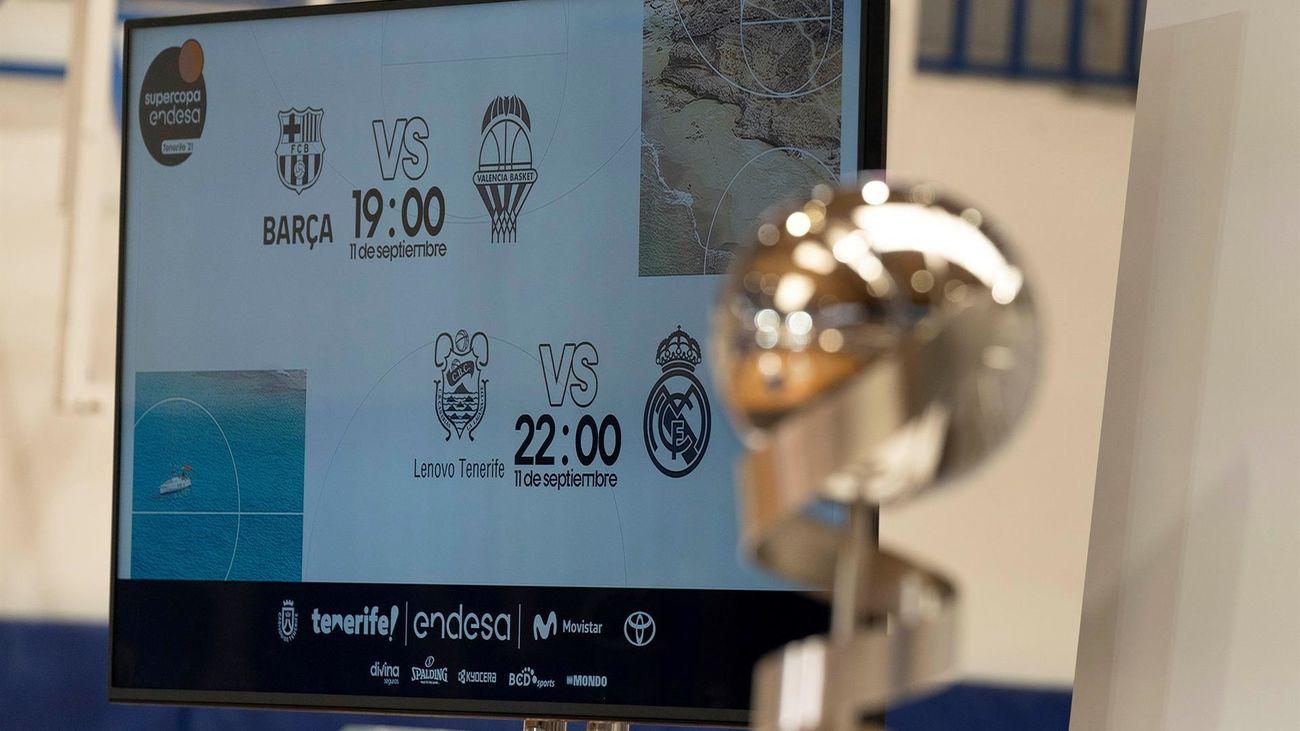 El Real Madrid se medirá al Lenovo Tenerife en la semifinal de la Supercopa
