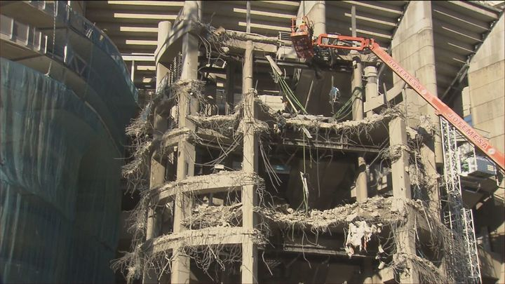 Las obras del Bernabéu, a contrarreloj para acoger partidos en septiembre