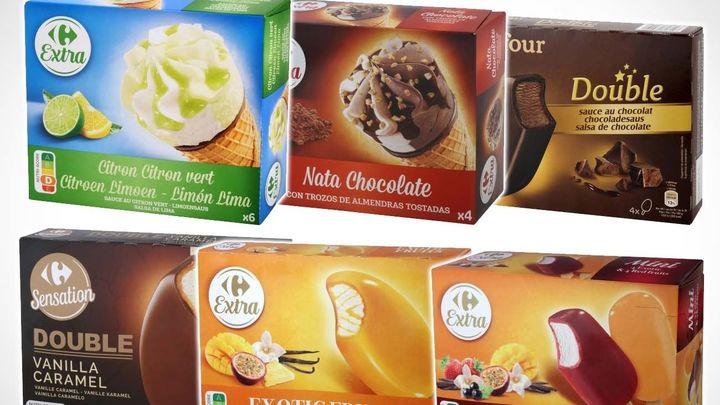 Carrefour retira 29 variedades de helados