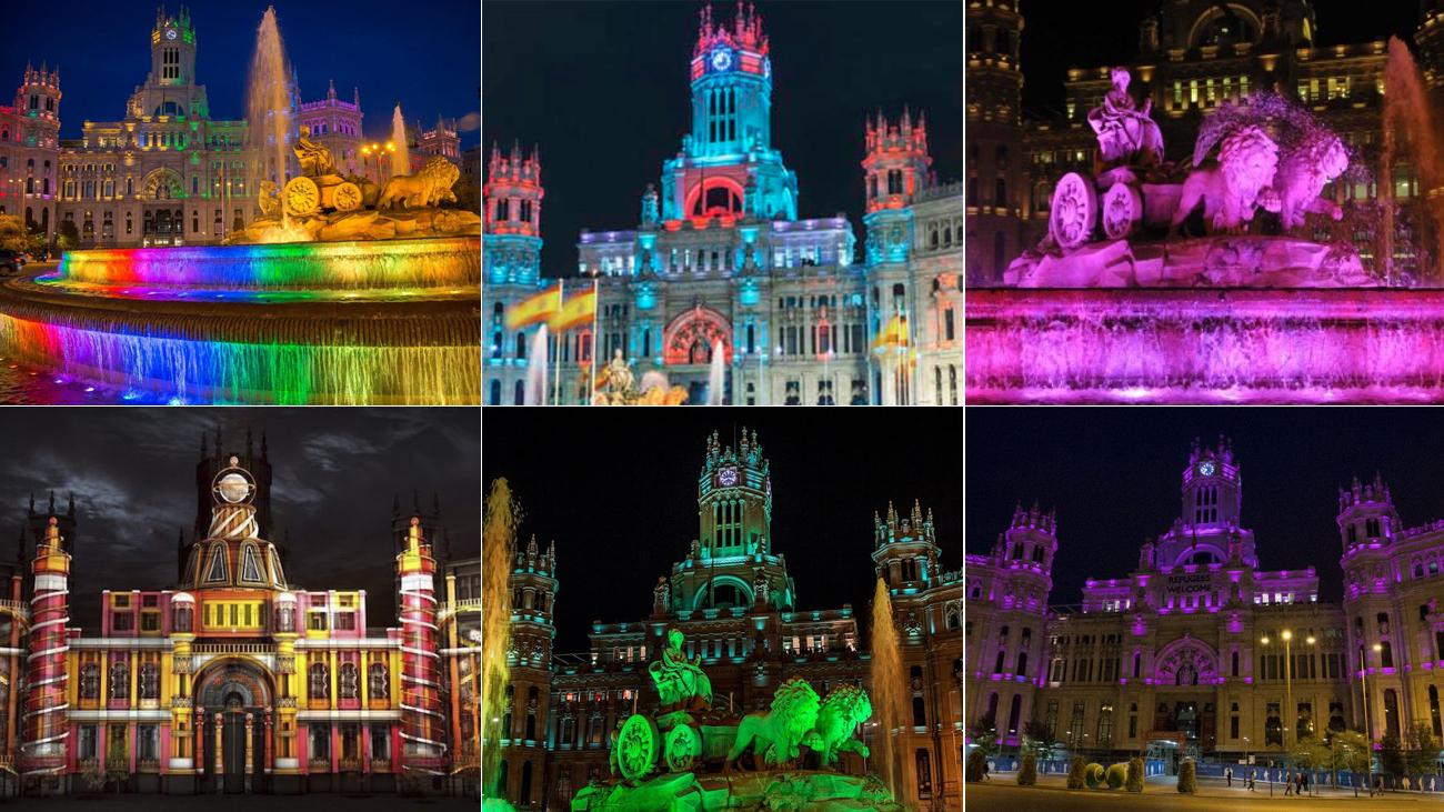 Cuando Cibeles y el ayuntamiento de Madrid se visten de colores