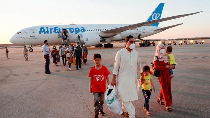 Aterriza en Torrejón de Ardoz el segundo avión español con repatriados afganos, con 110 personas a bordo