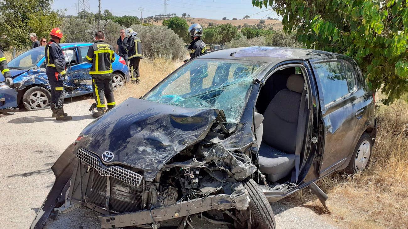 Herido grave un hombre de 45 años  tras chocar contra otro vehículo en la M-507 en Villamanta