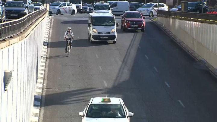 Los ciclistas podrán circular por algunos túneles de Madrid
