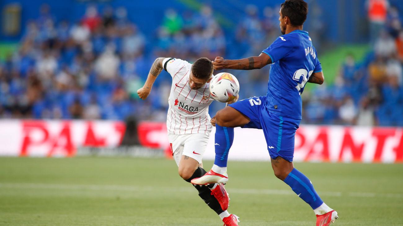0-1. El Sevilla deja KO al Getafe en el minuto 93