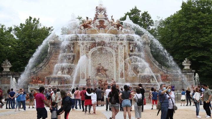 Las Fuentes Monumentales de La Granja vuelven a encenderse este miércoles por San Luis