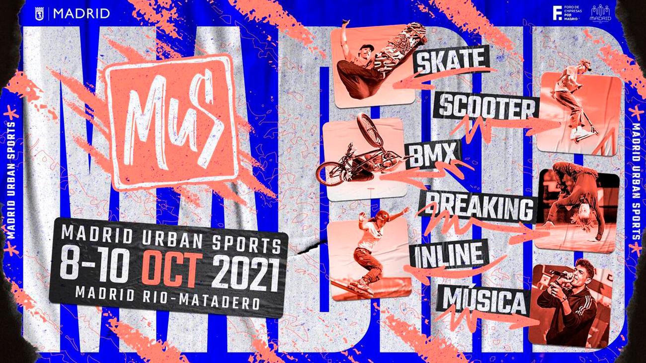 Madrid acogerá en octubre 'Madrid Urban Sports', una competición internacional de deporte urbano