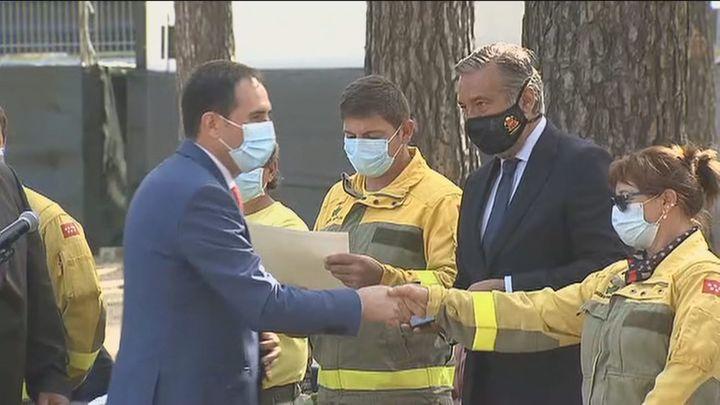 Robledo de Chavela reconoce el trabajo de los bomberos y las brigadas forestales en el incendio de 2020