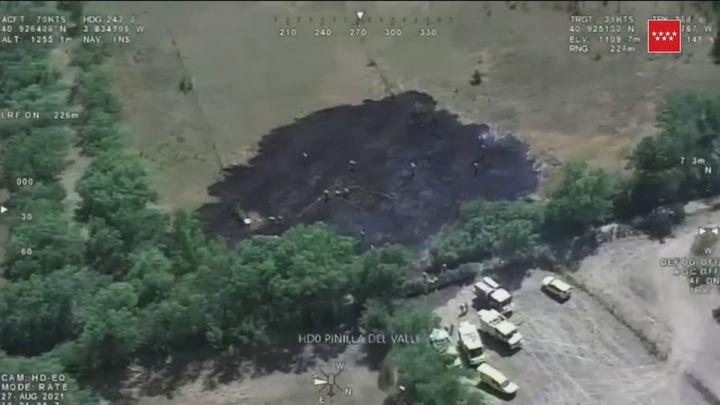 Susto en Pinilla del Valle por un incendio de pastos