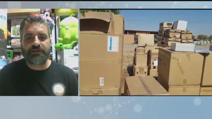 600 juguetes donados para los niños afganos en Torrejón de Ardoz