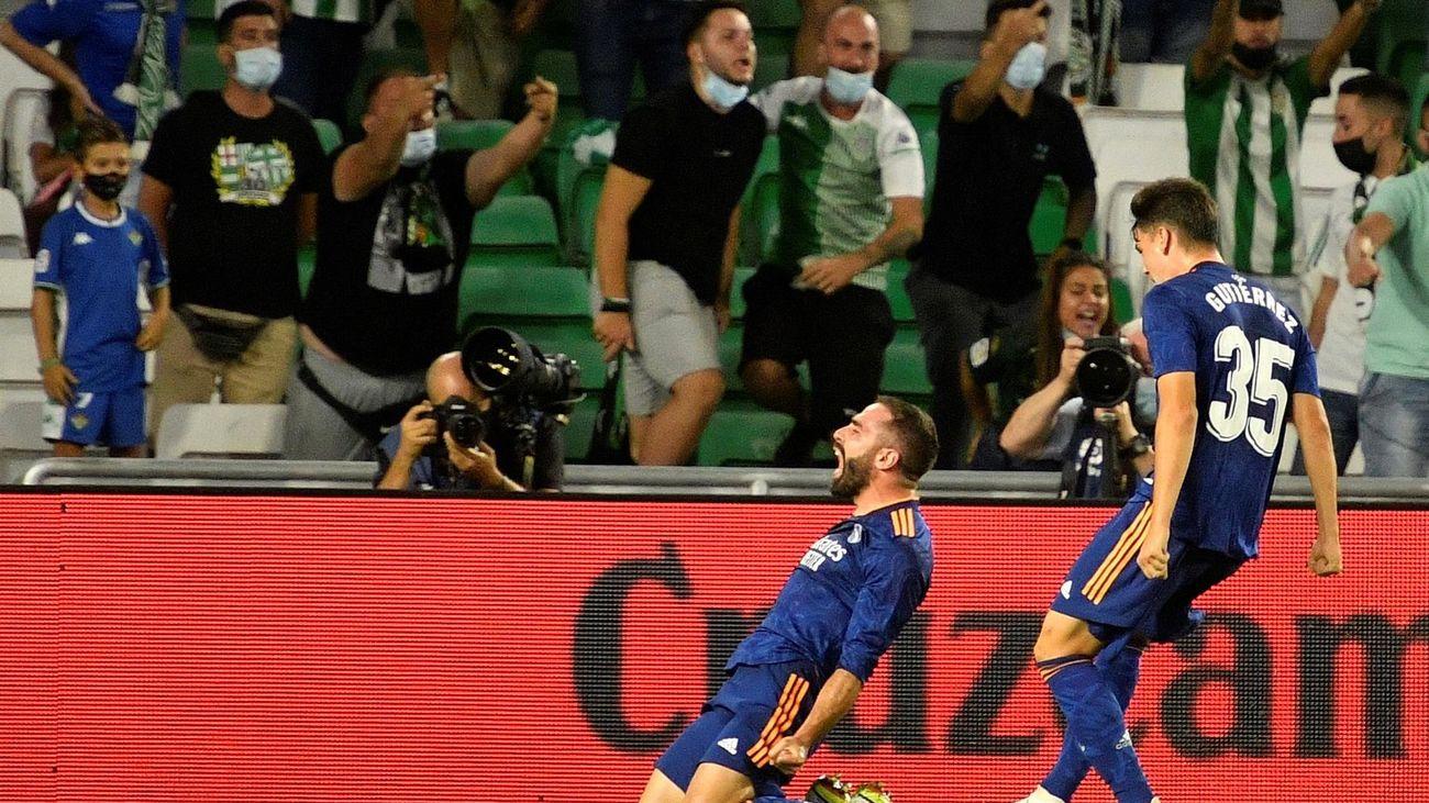 0-1. Carvajal de devuelve la sonrisa al Real Madrid ante el Betis