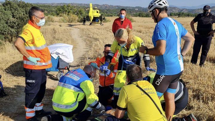 Herido un hombre de 54 en Las Rozas tras caer de su bicicleta y clavarse el pedal en la rodilla