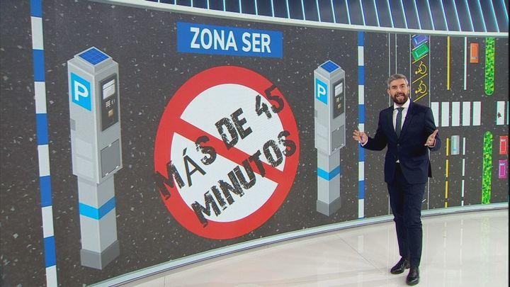 Estacionamientos blanquiazules de alta rotación en Madrid 360