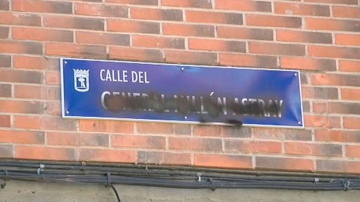 Vandalizan las placas de calle Millán Astray en Madrid tras ser restituidas