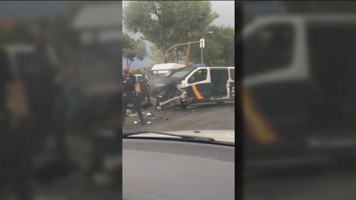Una persecución policial termina en colisión en la Avenida de los Poblados de Madrid
