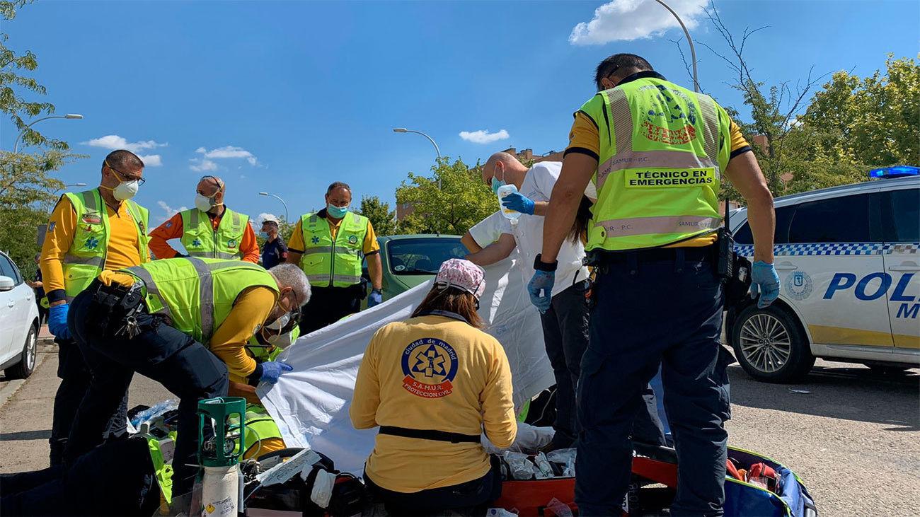 Una mujer muy grave al ser arrollada por un coche en un paso de cebra en Vallecas