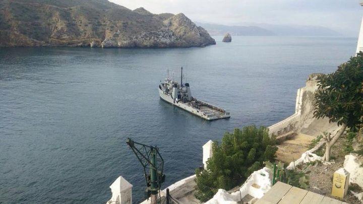 La Armada envía apoyo logístico a las plazas de soberanía española del Norte de África y la isla de Alborán