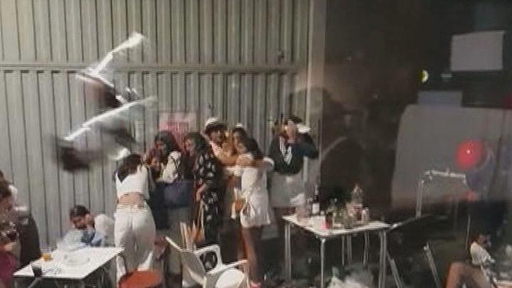 Tres detenidos en  Plentzia, en Vizcaya, tras el ataque a ertzainas en el desalojo de un multitudinario botellón