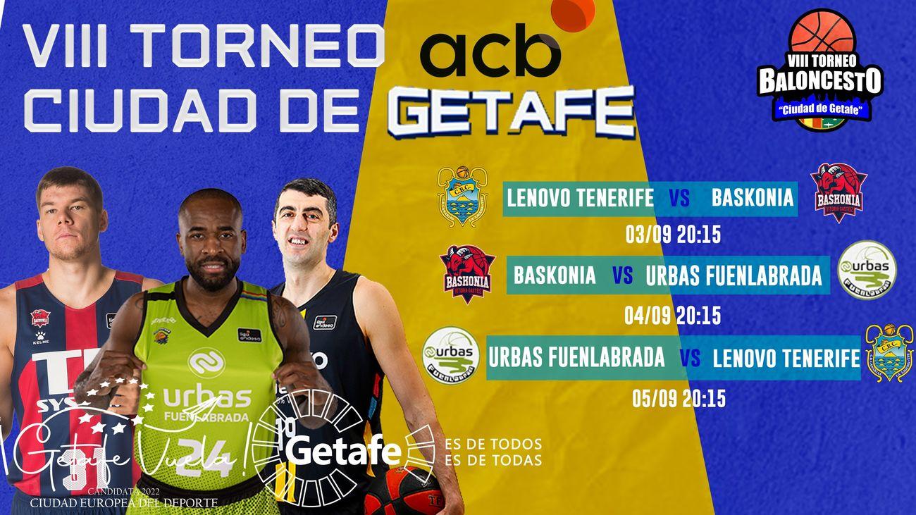 Regresa el 'VIII Torneo ACB Ciudad de Getafe'