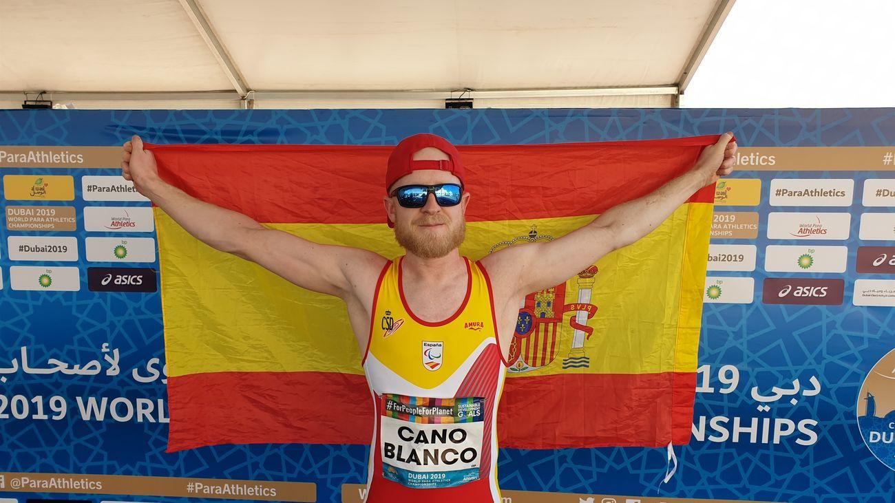 Iván Cano, en el mundial paralímpico de Atletismo de Dubai de 2019