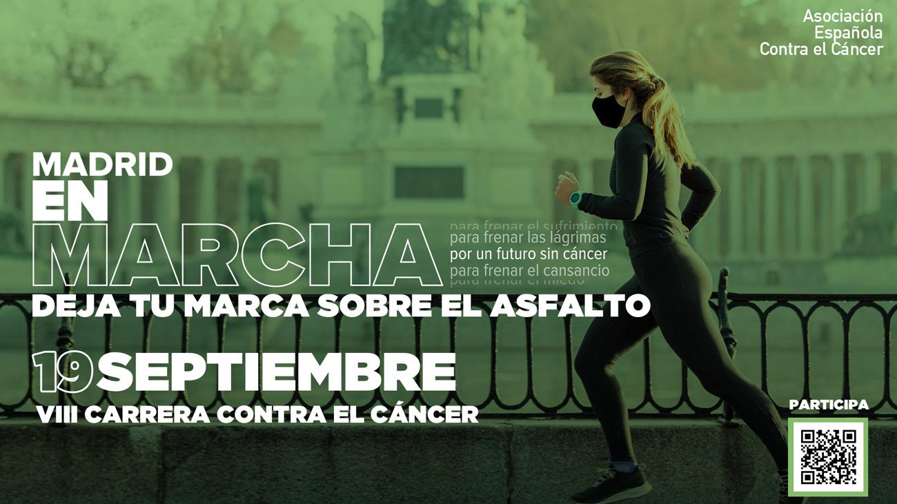 Cartel informativo de la Marcha de la Carrera contra el Cáncer