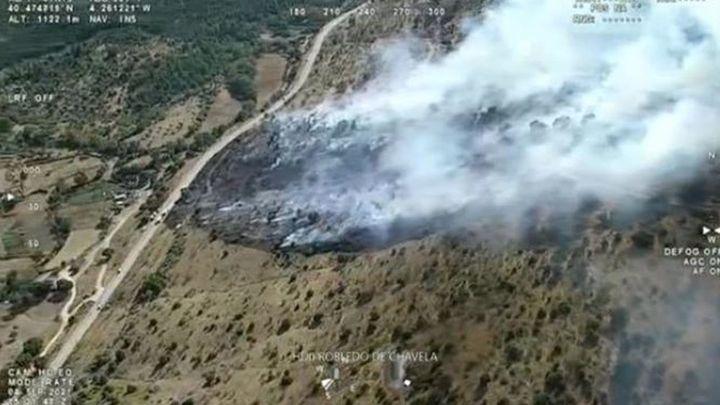 Controlan en 70 minutos un incendio forestal en Robledo de Chavela