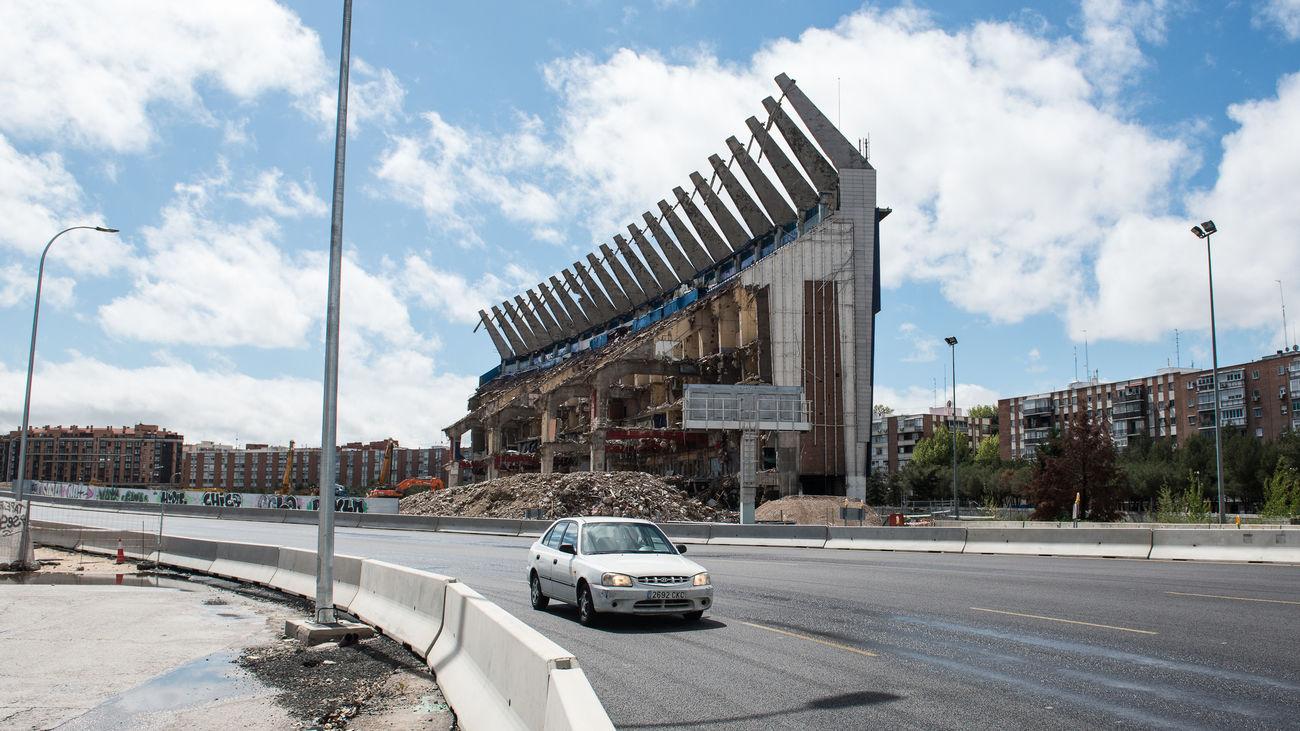 Zona de la M-30 en donde estaba el estadio Vicente Calderón