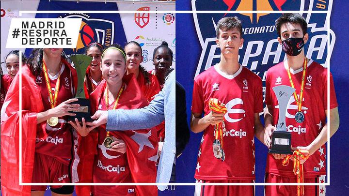 Madrid, oro y plata en el Campeonato de España infantil de baloncesto