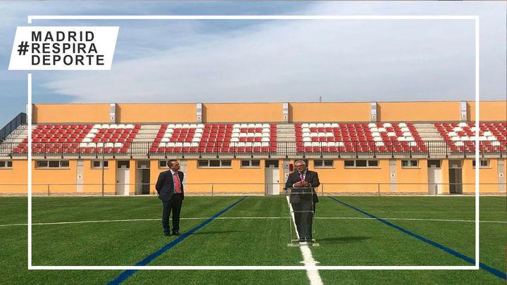 El nuevo campo de fútbol de Cobeña dará servicio a más de 300 deportistas y 25 equipos