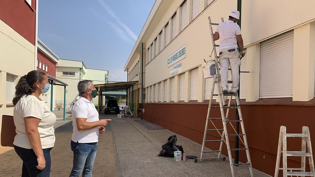 Trabajos de mejora en el colegio público Miguel Delibes de Campo Real