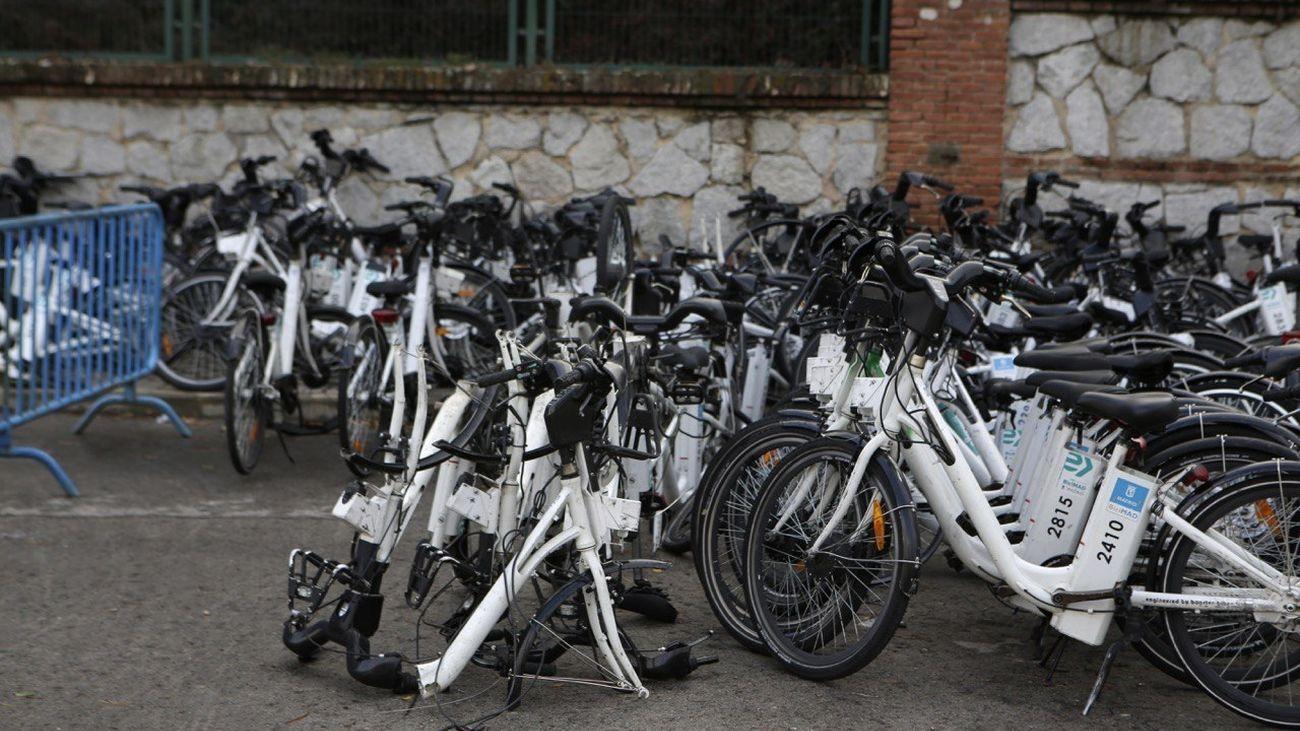 Bicicletas del servicio BiciMAD