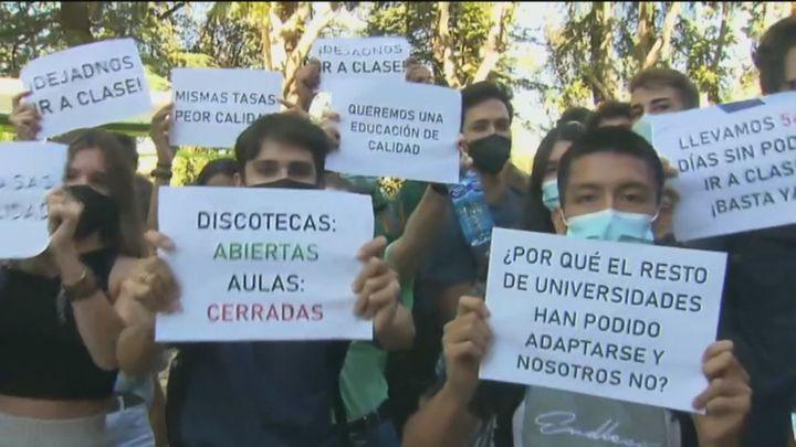 Los estudiantes de la Politécnica piden volver a las clases presenciales
