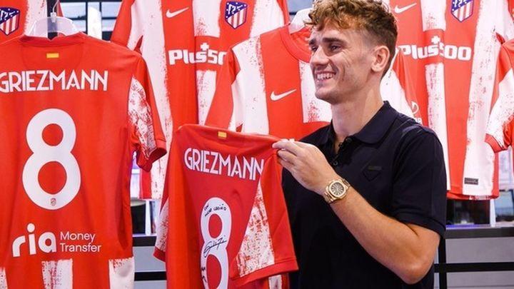 Griezmann estampa su dorsal en el Wanda Metropolitano