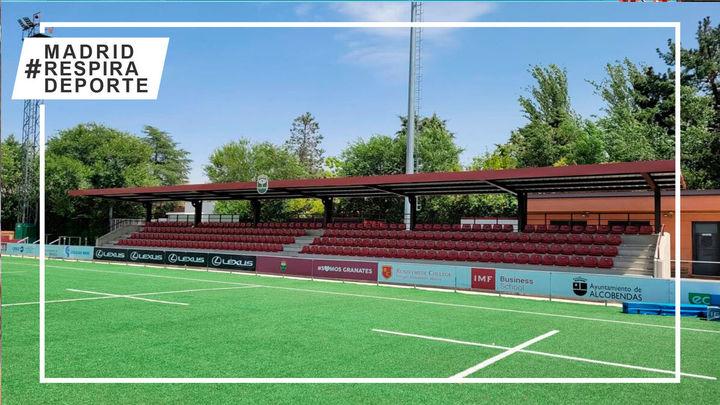 Reparada la cubierta de la grada del campo del Rugby Alcobendas