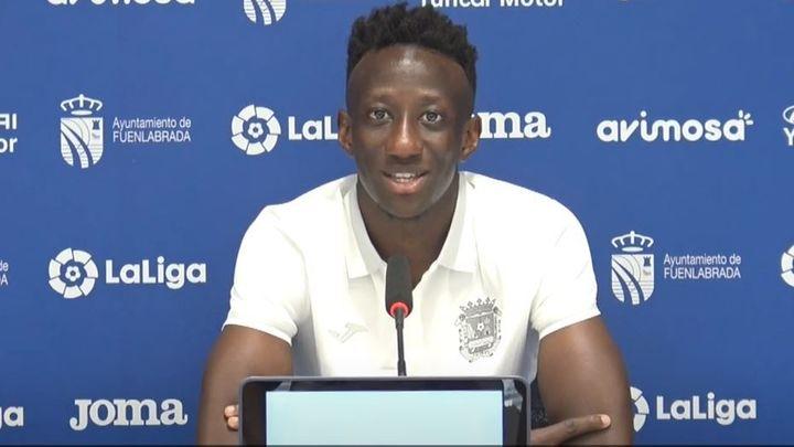 """Konaté, del Fuenlabrada: """"Soy agresivo pero también sé jugar"""""""
