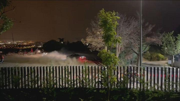 Los vecinos de Torrelodones piden ayuda para acabar con los que hacen trompos y queman rueda